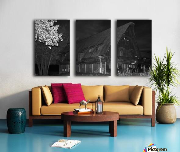 Poste daccueil Split Canvas print