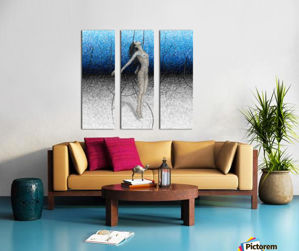 Ascension - Blue Split Canvas print