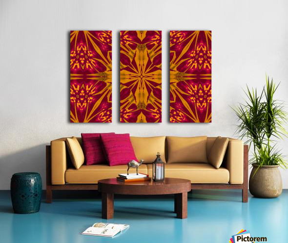 Wildflower of Gold and Red Split Canvas print