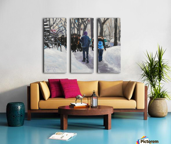 Shabbat Split Canvas print
