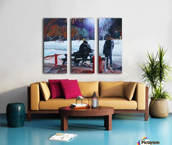 After school skate Split Canvas print