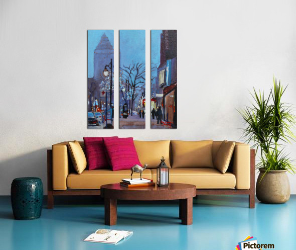 Downtown Montreal Night Split Canvas print