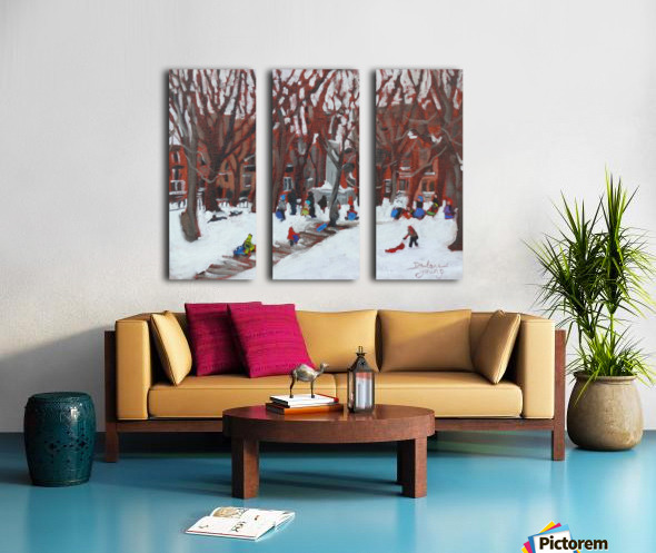 Park LaFontaine Tobogganing Split Canvas print