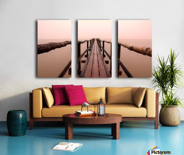 Enter The Lake Split Canvas print