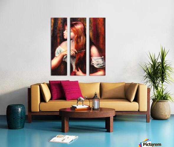 Combing girl Split Canvas print