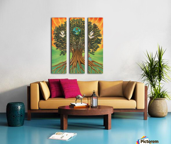 Rooted In The Tree Of Humanity Split Canvas print