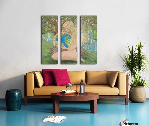 Thelema Split Canvas print