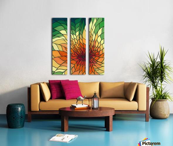 Radiance Split Canvas print