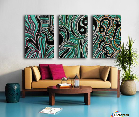 Synergy Triptych Right panel Split Canvas print