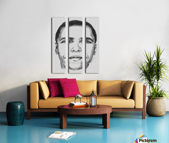 Leader's face Split Canvas print