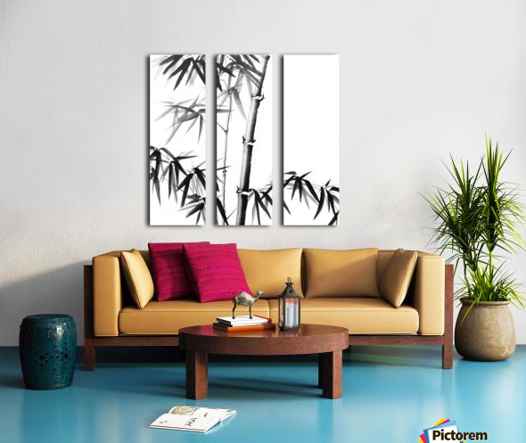 Bamboo - Chinese Style Split Canvas print