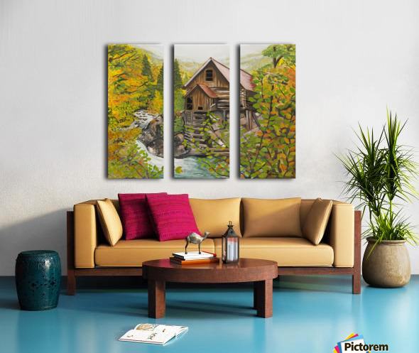Crystal Hideaway Split Canvas print