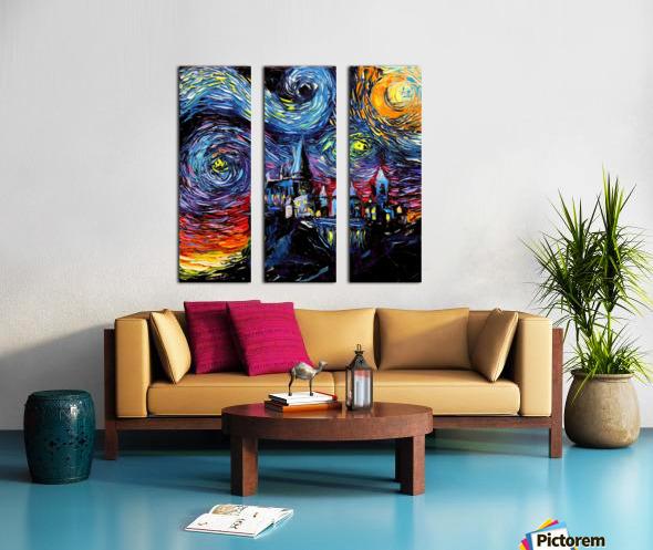 Castle Starry Night print van Gogh parody Split Canvas print