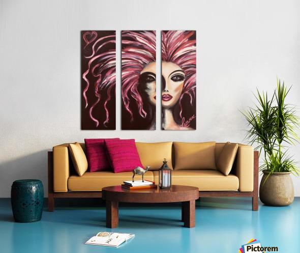 Burlesque Split Canvas print