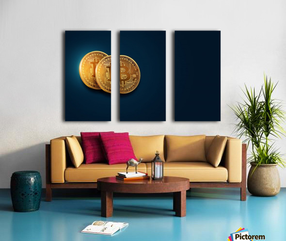Bitcoin Split Canvas print