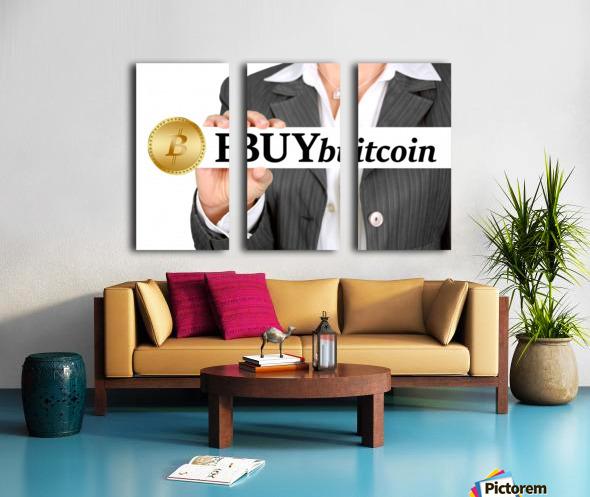 Bitcoin Split Canvas print