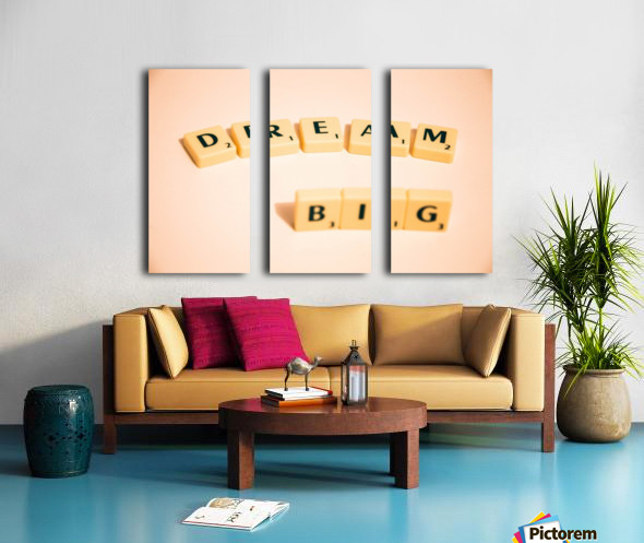 Dream Big Split Canvas print