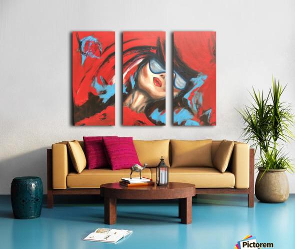 Wait For Me Split Canvas print