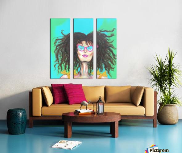 Marie Popette Split Canvas print