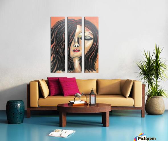 La Femme Zen Split Canvas print