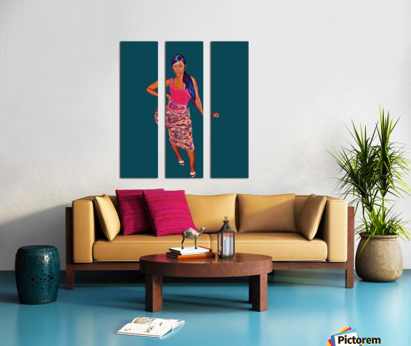 purposeful Split Canvas print