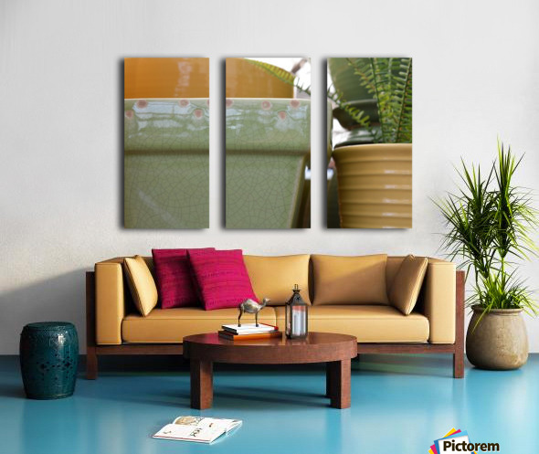 Beautiful Pottery Photograph Split Canvas print