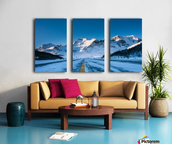 Columbia Ice Fields Canada. Split Canvas print