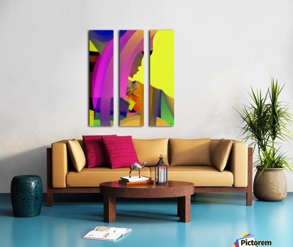 0168 Split Canvas print
