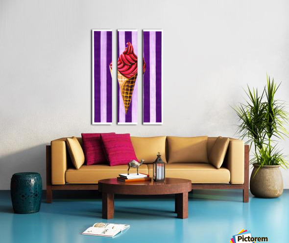 Ice Cream Split Canvas print