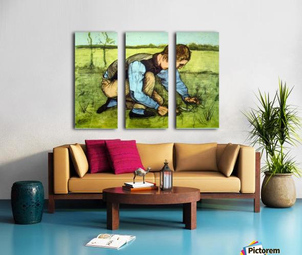 Cutting Grass by Van Gogh Split Canvas print