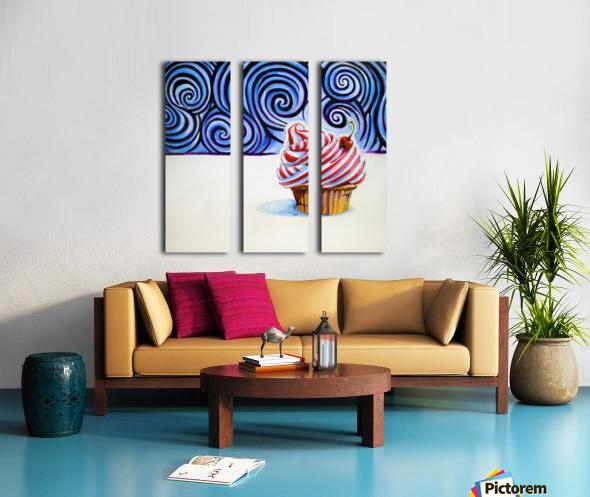 Cupcake Split Canvas print