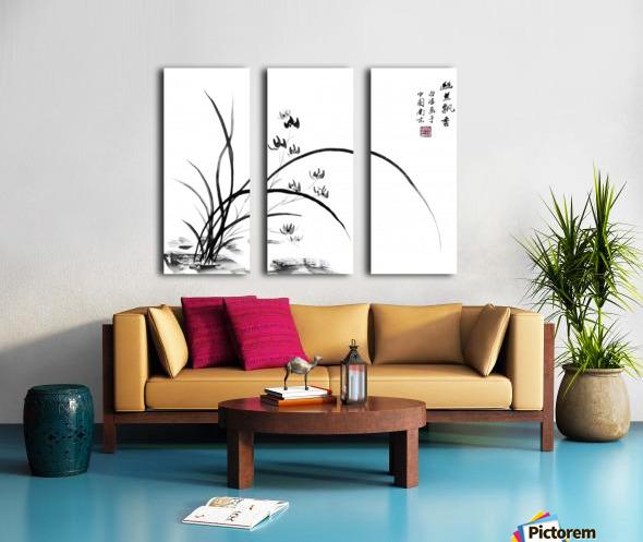 Chinese Iris Split Canvas print