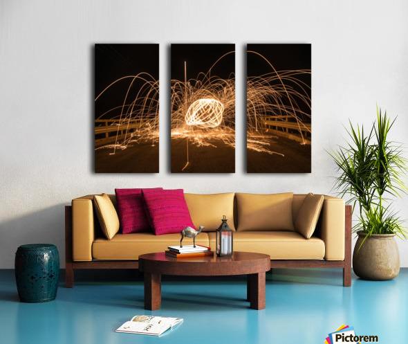 Spiral orb Split Canvas print