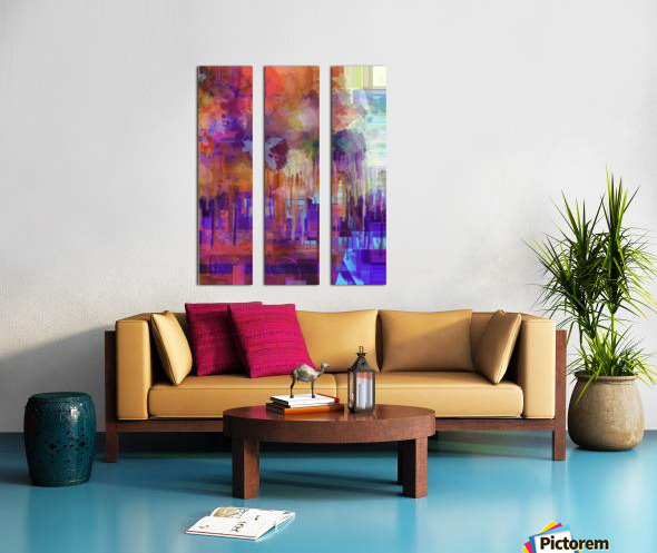 Abstract - Inadvertent Prevaricator Split Canvas print