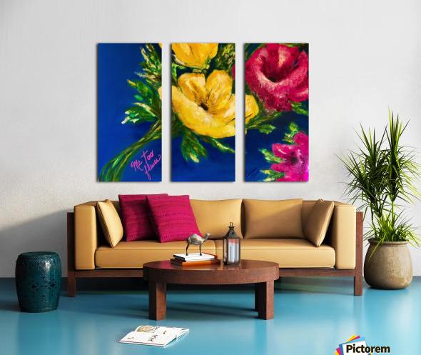 Me Too Fleurs Split Canvas print