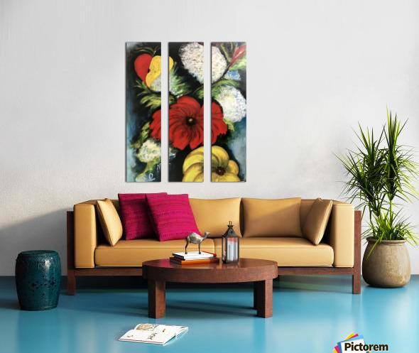 Des Fleurs pour Nathalie Split Canvas print