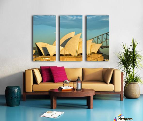 First plane of the morning Sydney Opera House Split Canvas print