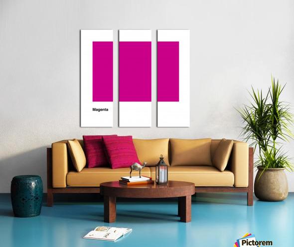 Solid Magenta Process color Split Canvas print