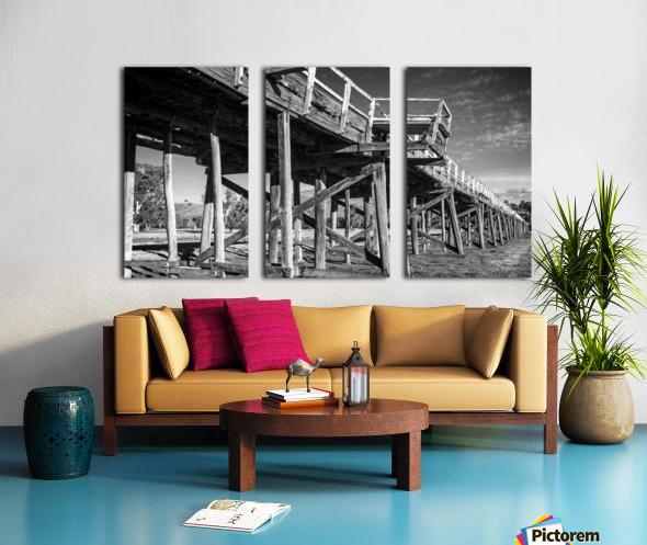 Old disused railway bridge New South Wales australia Mono Split Canvas print