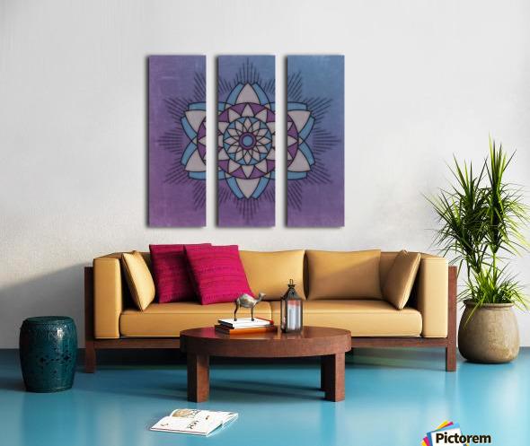 Simple Vintage Glow Mandala Solid Split Canvas print