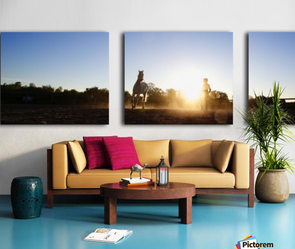 Lunging at Sunset Split Canvas print