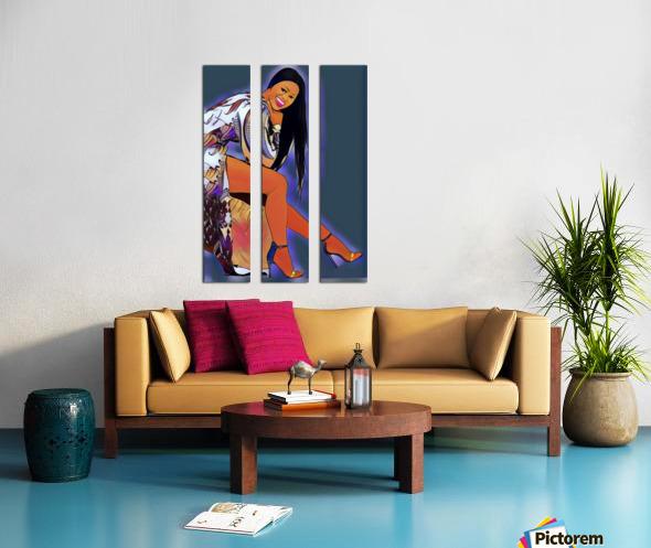 Brilliant Split Canvas print