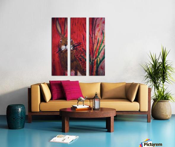Red Rabbit Split Canvas print