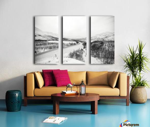 Kolyma Highway in Yakutia Split Canvas print