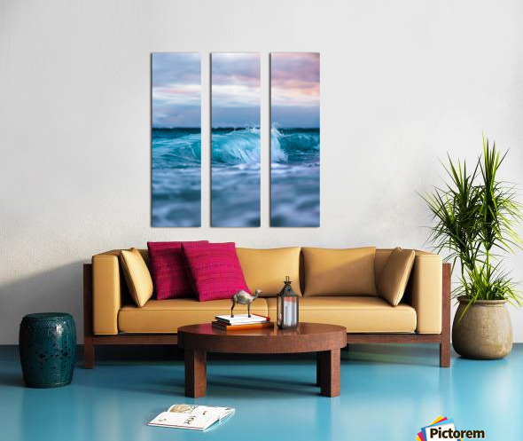 Blue Waves Split Canvas print