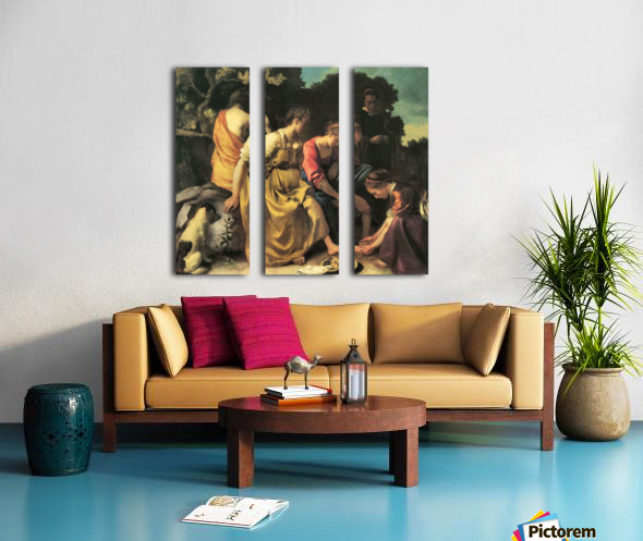 Diana and her nymphs by Vermeer Split Canvas print
