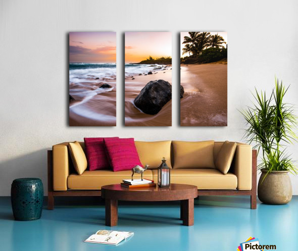 Smooth Shore Split Canvas print