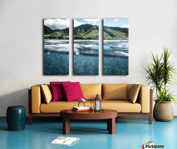 Land and Sea Split Canvas print