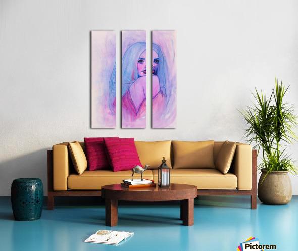 HIVER Split Canvas print