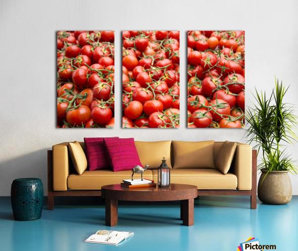 Tomatoes for sale open air market Split Canvas print